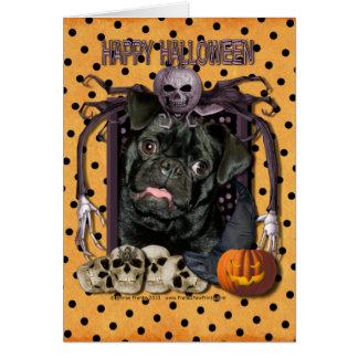 Halloween Nightmare - Pug - Ruffy Greeting Cards