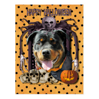Halloween Nightmare - Rottweiler - SambaParTi Postcard