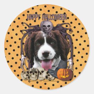 Halloween Nightmare - Springer Spaniel - Baxter Stickers