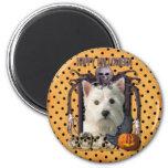 Halloween Nightmare - Westie 2 Inch Round Magnet