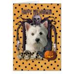Halloween Nightmare - Westie Card
