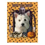 Halloween Nightmare - Westie Post Card