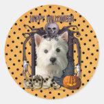 Halloween Nightmare - Westie Round Sticker