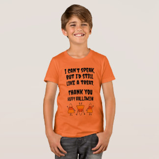 Halloween Nonverbal Autism Trick or Treat Costume T-Shirt
