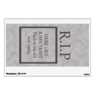 Halloween Not Rising Tombstone Wall Decal