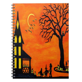 Halloween notebook, trick or treat notebook