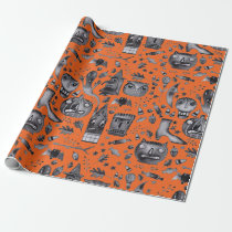 Halloween-O-Rama Wrapping Paper