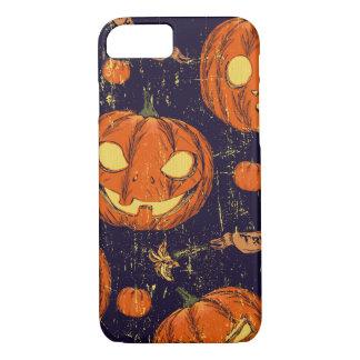 Halloween, obra clásica, calabaza, patten del funda iPhone 7