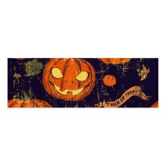 Halloween, obra clásica, calabaza, patten del tarjetas de visita mini