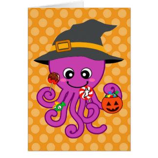 Halloween Octopus Greeting Card