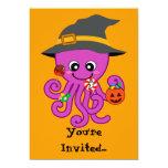 Halloween Octopus Halloween party invites