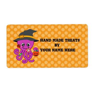 Halloween Octopus Custom Shipping Labels
