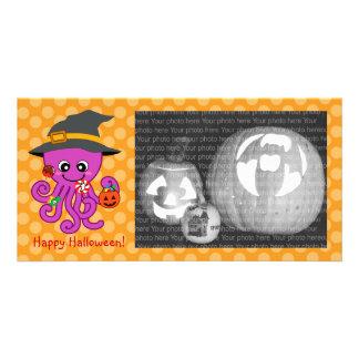 Halloween Octopus Photo Card Template