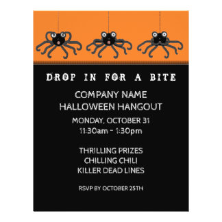 halloween invitation flyers programs zazzle