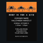 """Halloween Office Party Invitation Flyer<br><div class=""""desc"""">Funny Halloween design for employees and coworkers.</div>"""