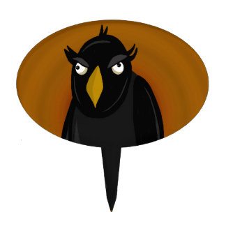 Halloween - old black crow cake topper