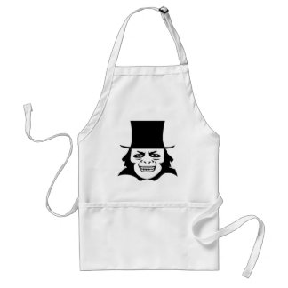 Halloween Old Movie Monster Inspired Drawing Adult Apron