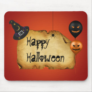 Halloween Old Parchment Greeting - Mousepad