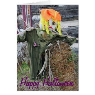 Halloween Old -Style Village Scarecrow Card
