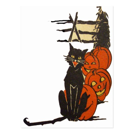 Halloween On The Farm (Vintage Halloween Card ) Post Cards