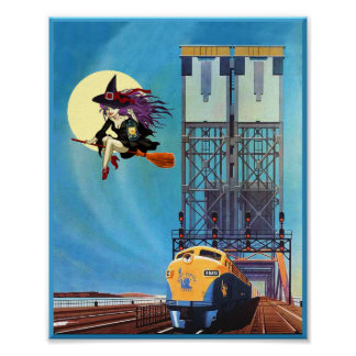Halloween on the Railroad Poster