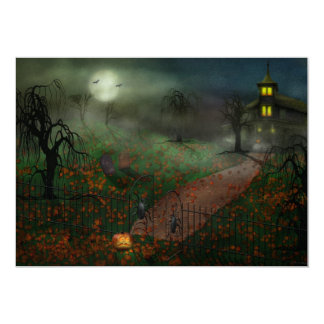 Halloween - One Hallows Eve Custom Invitations