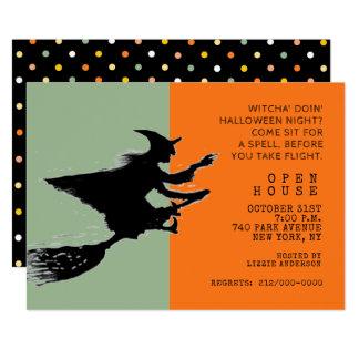 Halloween Open House Card