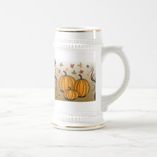 Halloween or Thanksgiving fall and autumn products Beer Stein