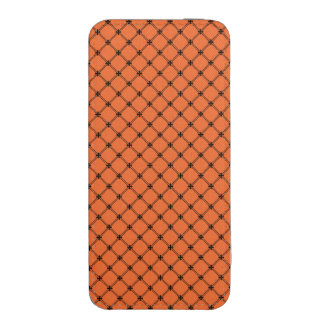 Halloween Orange and Black Diagonal Pattern iPhone 5 Pouch