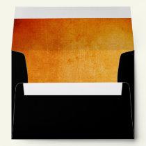 Halloween Orange and Black Envelope