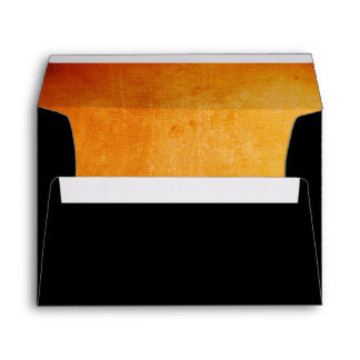 Halloween Orange and Black Envelope