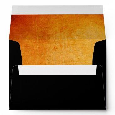 Halloween Themed Halloween Orange and Black Envelope