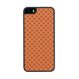 Halloween Orange and Black Pattern Carved® Maple iPhone 5 Slim Case