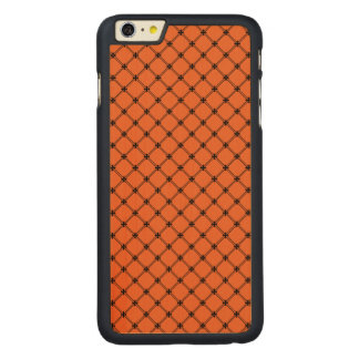 Halloween Orange and Black Pattern Carved® Maple iPhone 6 Plus Slim Case