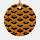 Halloween Orange Bats Ornament