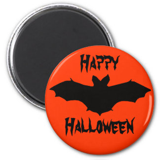 Halloween Orange Black Bat Magnet