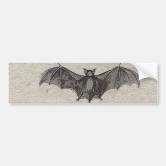 Halloween Orange Black Bats Vintage Gothic Party Bumper Sticker