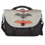 Halloween Orange Black Bats Vintage Gothic Party Bags For Laptop