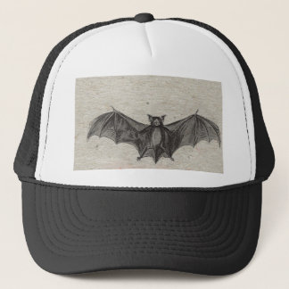 Halloween Orange Black Bats Vintage Gothic Party Trucker Hat