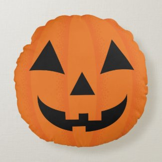 Halloween Orange Carved Happy Pumpkin Face