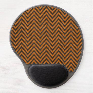 Halloween Themed Halloween Orange Chevron Chalkboard Pattern Gel Mouse Pad
