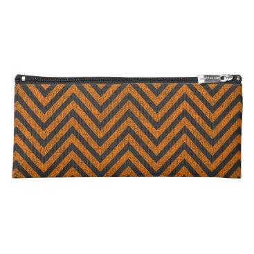 Halloween Themed Halloween Orange Chevron Chalkboard Pattern Pencil Case