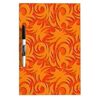 Halloween Orange Decoration Pumpkin Orange Dry Erase Board