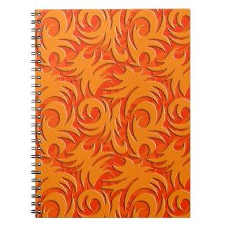 Halloween Orange Decoration Pumpkin Orange Spiral Note Book