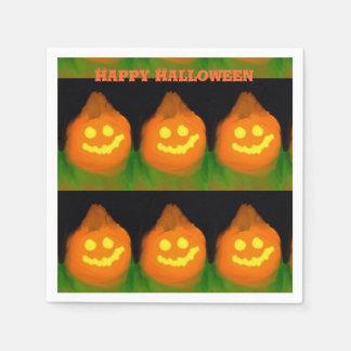 Halloween Orange Pumpkin Design Paper Napkins