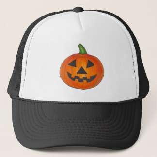 Halloween Orange Pumpkin Jack o' Lantern Hat