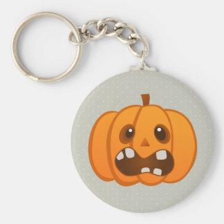 Halloween Orange Pumpkin Jack-o'-lantern Keychains