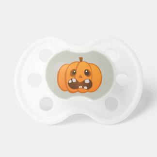 Halloween Orange Pumpkin Jack-o -lantern Baby Pacifiers