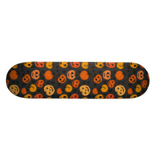 Halloween Orange Pumpkin Pattern Skateboard Deck