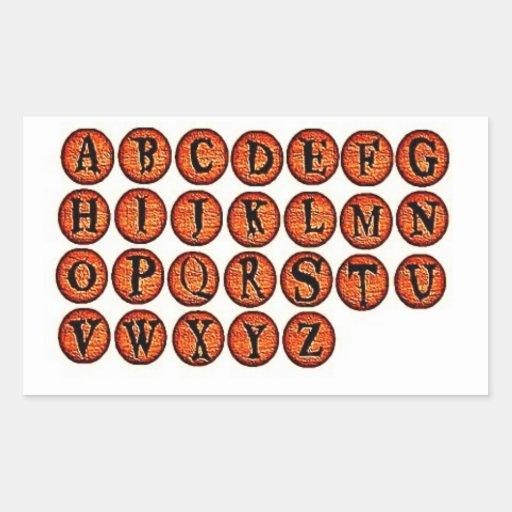 halloween orange rock letters stickers zazzle With orange letter stickers